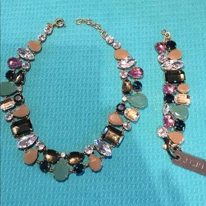 J crew statement necklace & bracelet set NEW